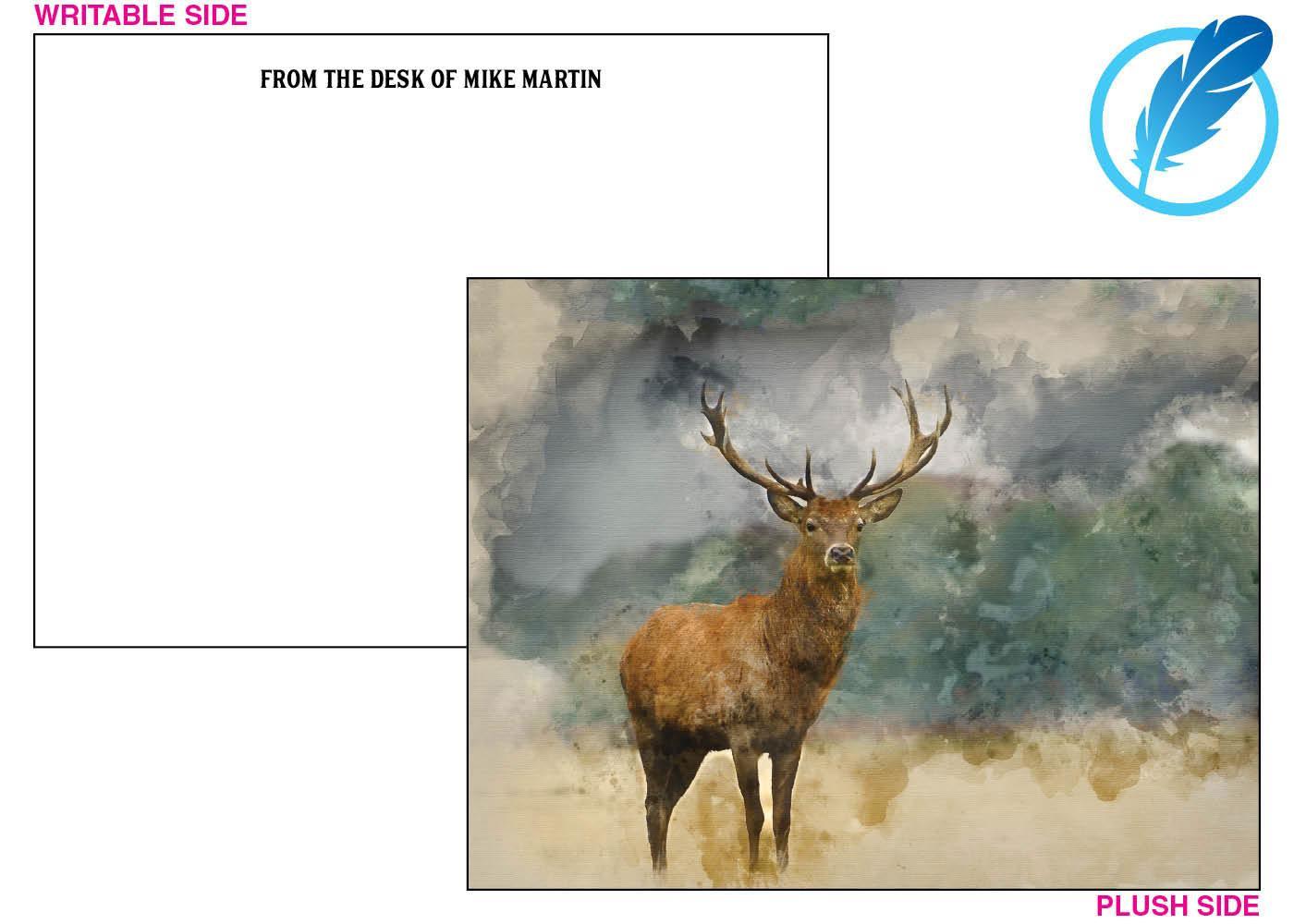 Majestic buck note card
