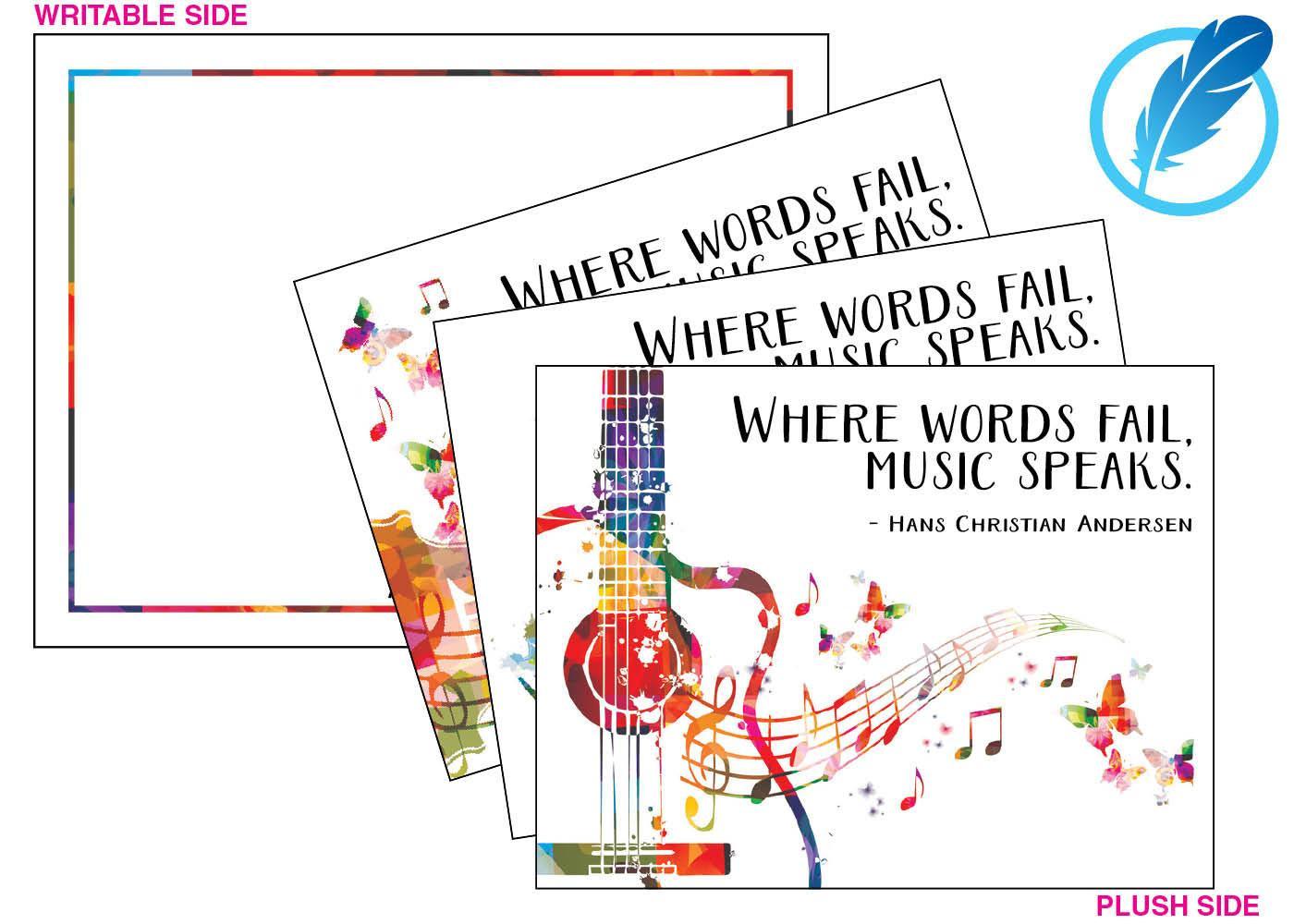 Music Speaks Plush Notecard