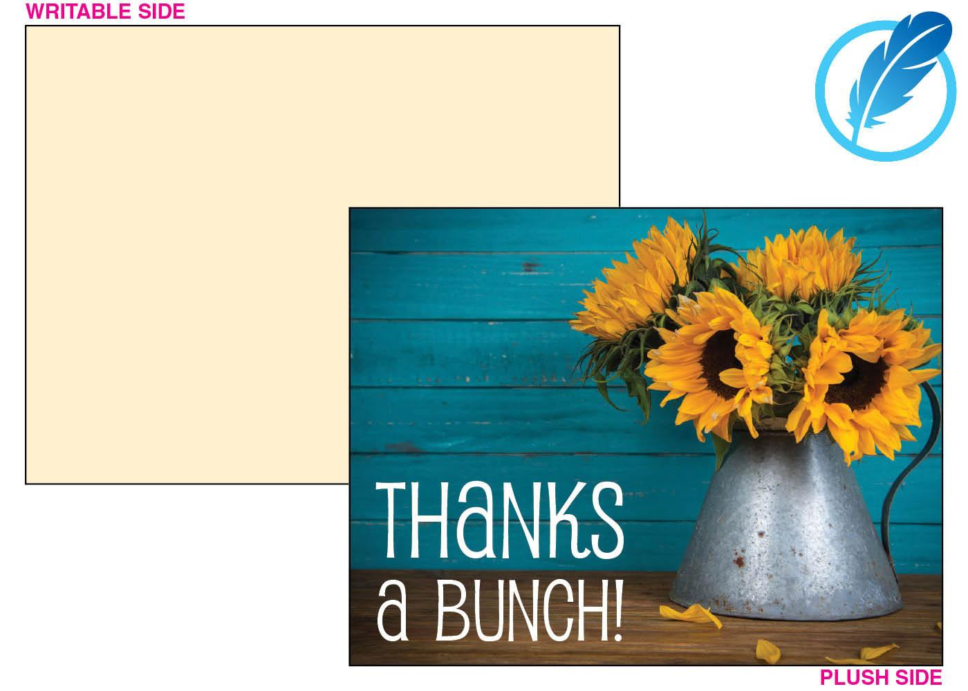 Sunflower with vase thank you card