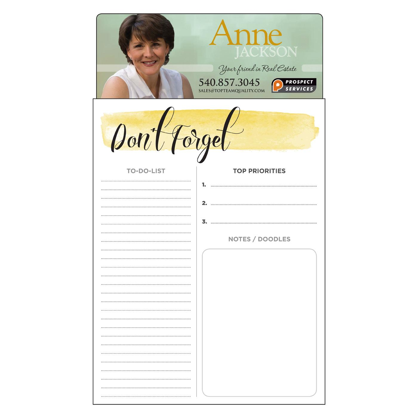 Jumbo Don't Forget Notepad Magnet