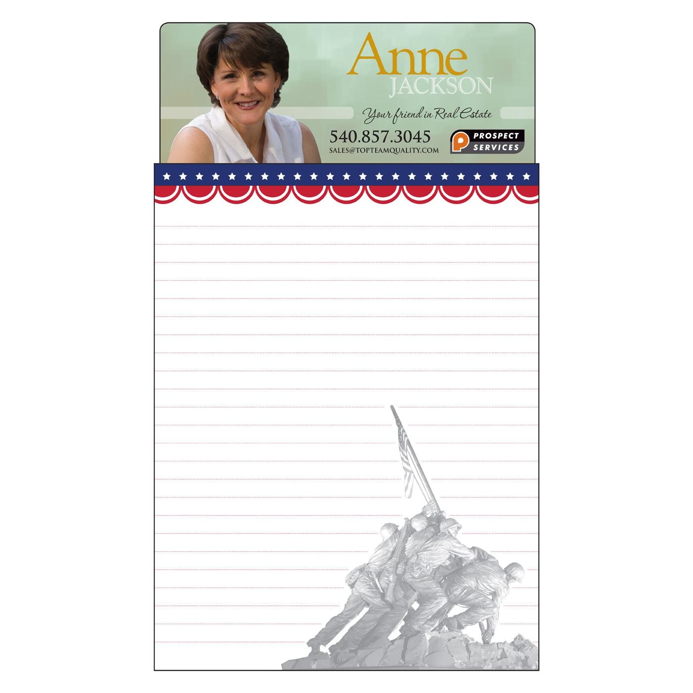 Patriotic Jumbo Magnetic Notepad