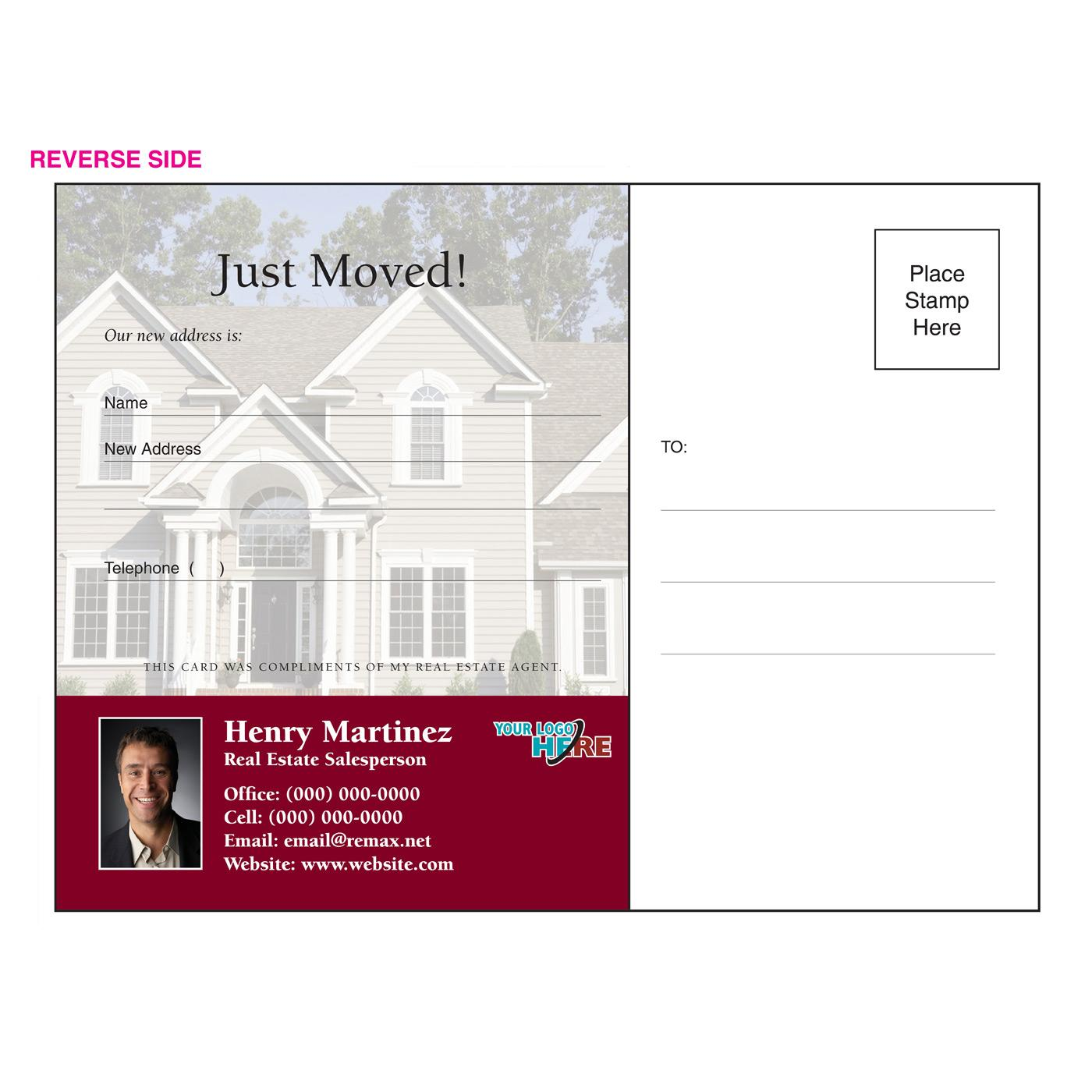 We've Moved Yard Sign Postcard
