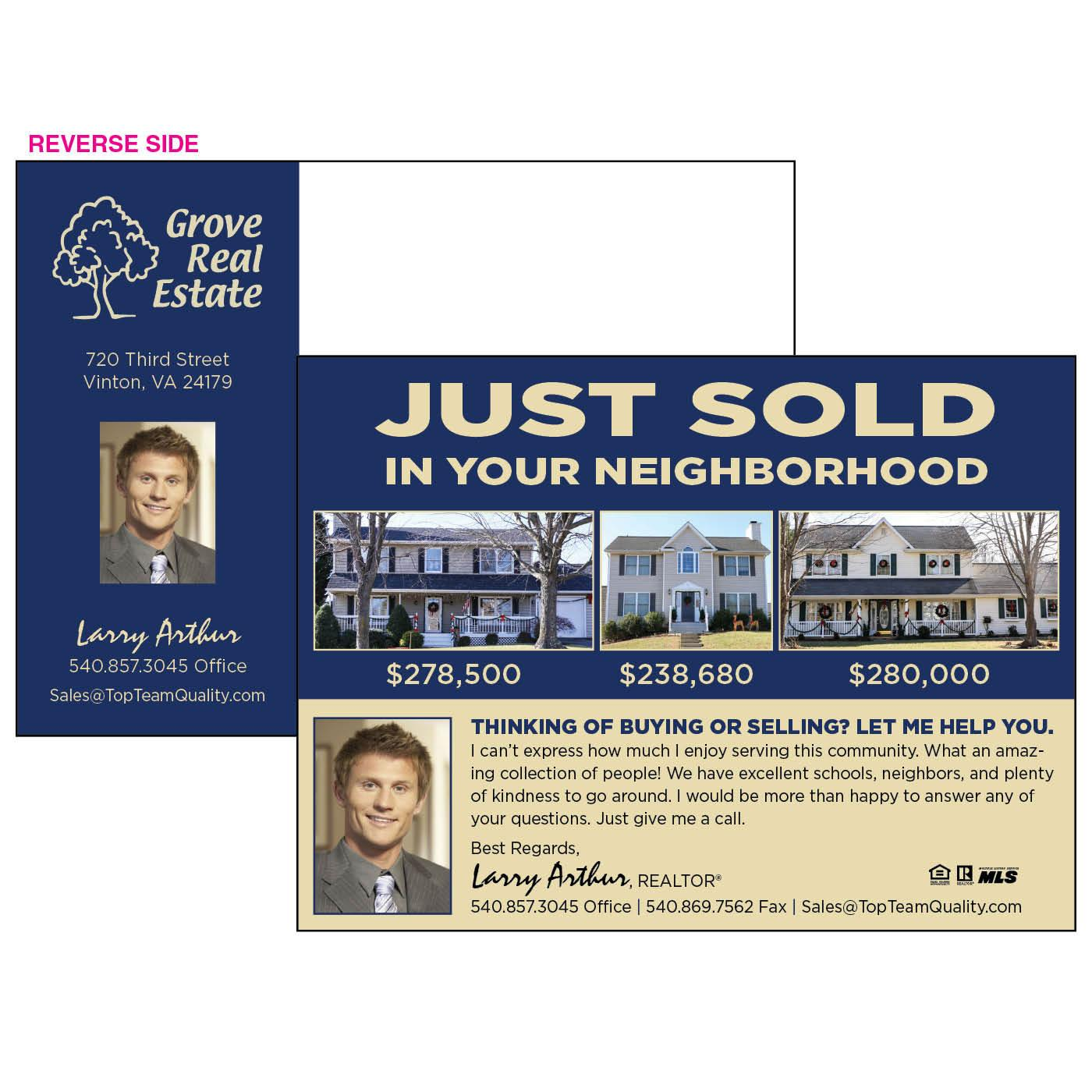 Glossy Postcard for Realtors