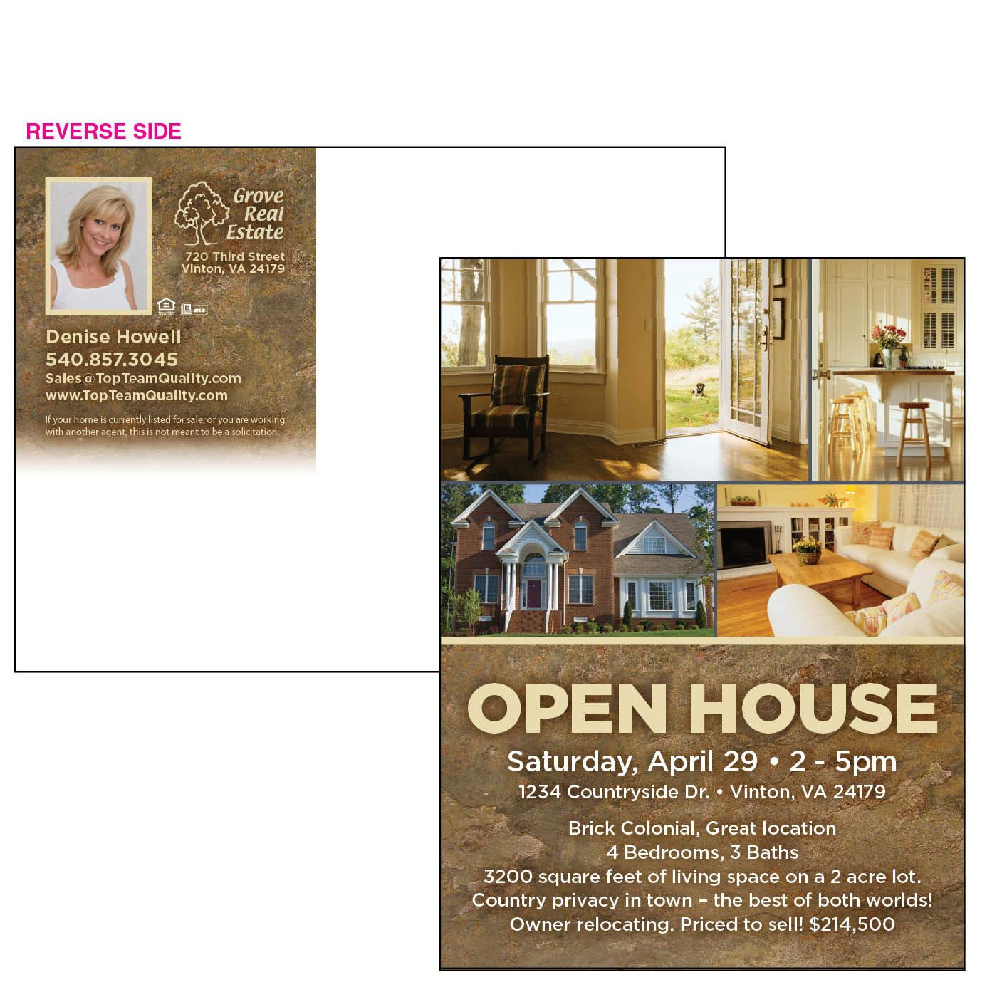 Postcard for Open House Event