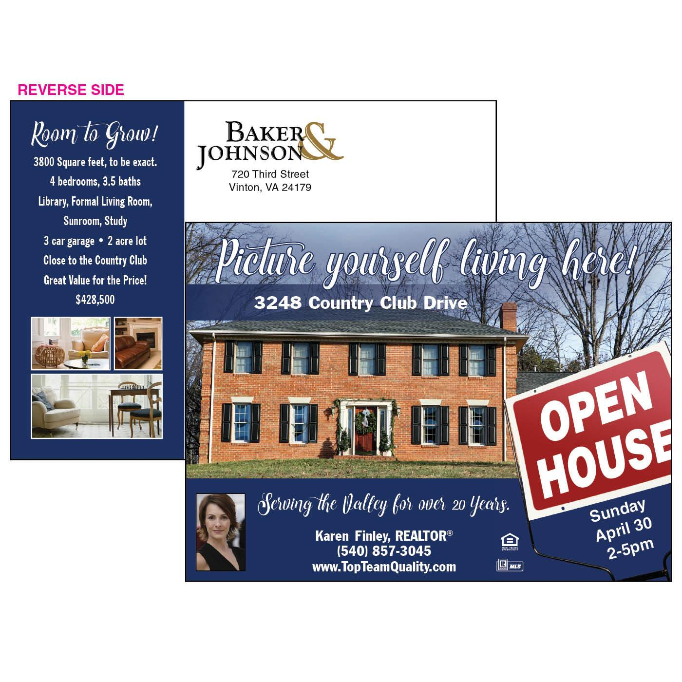 Picture Perfect Open House Postcard