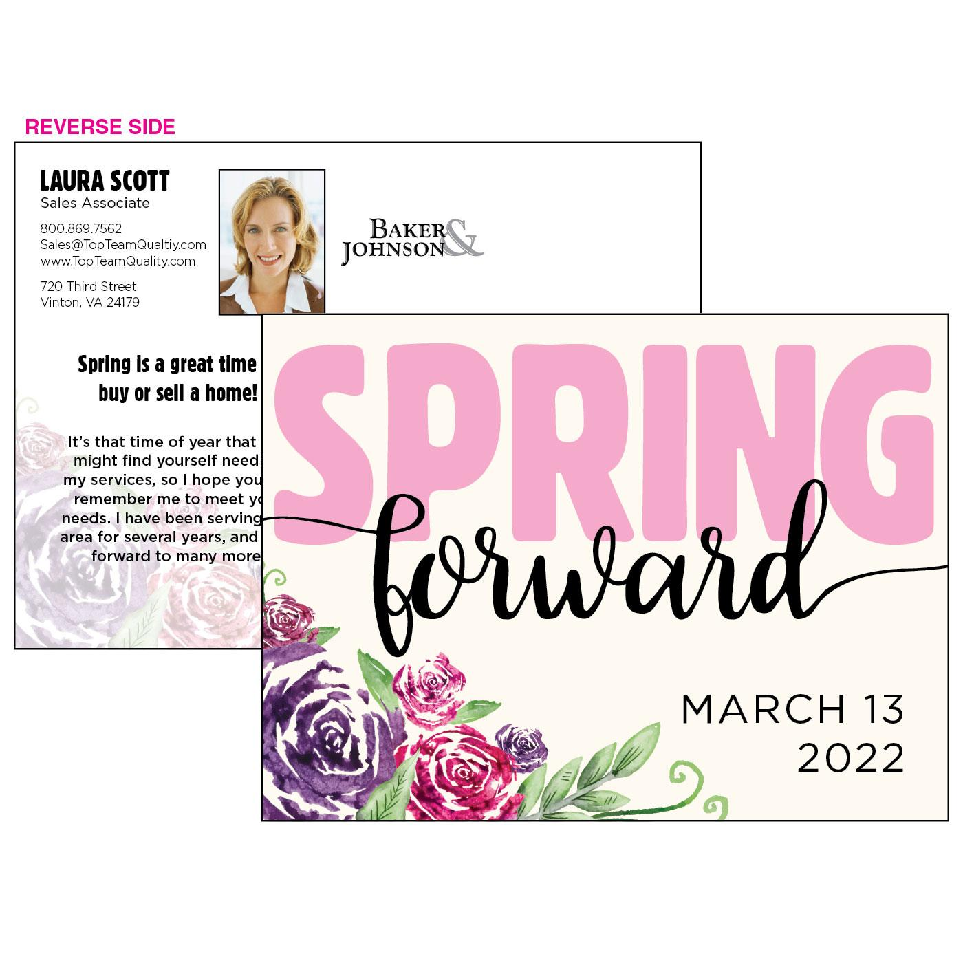 Spring Flowers Spring Forward Postcard
