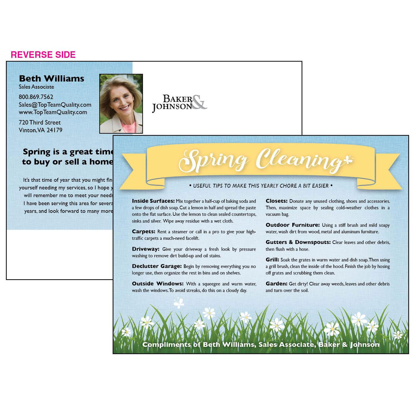 Postcard with spring cleaning tips