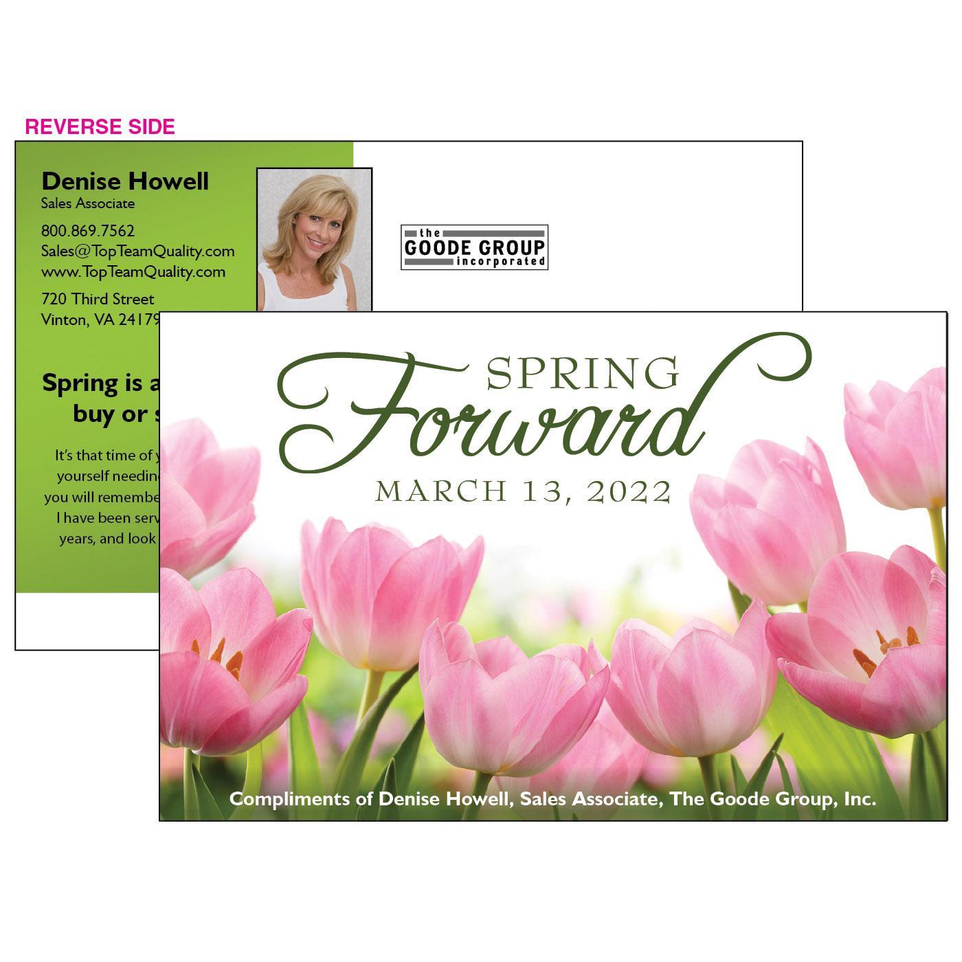 Spring Forward Jumbo Postcard