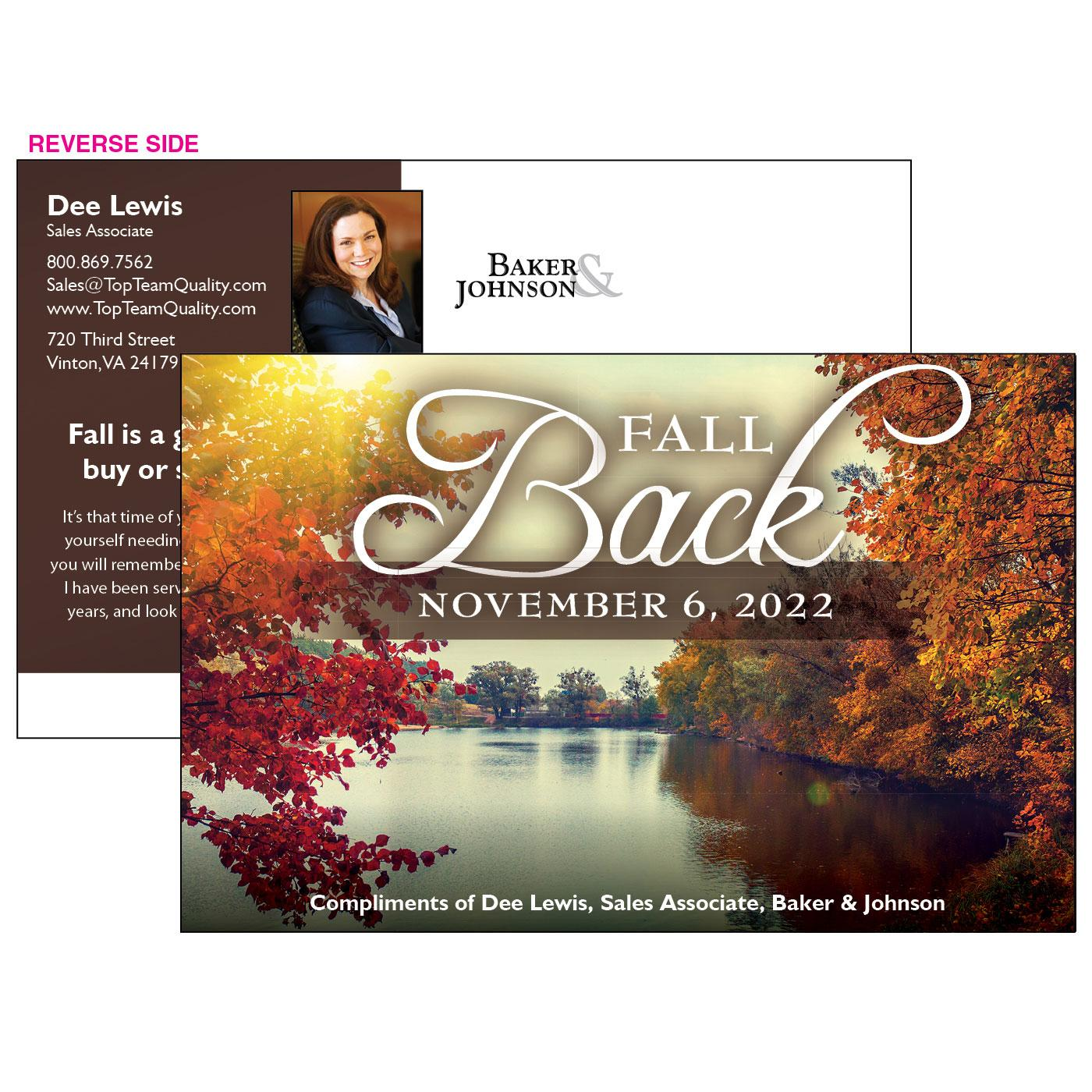 Fall Back Jumbo Postcard