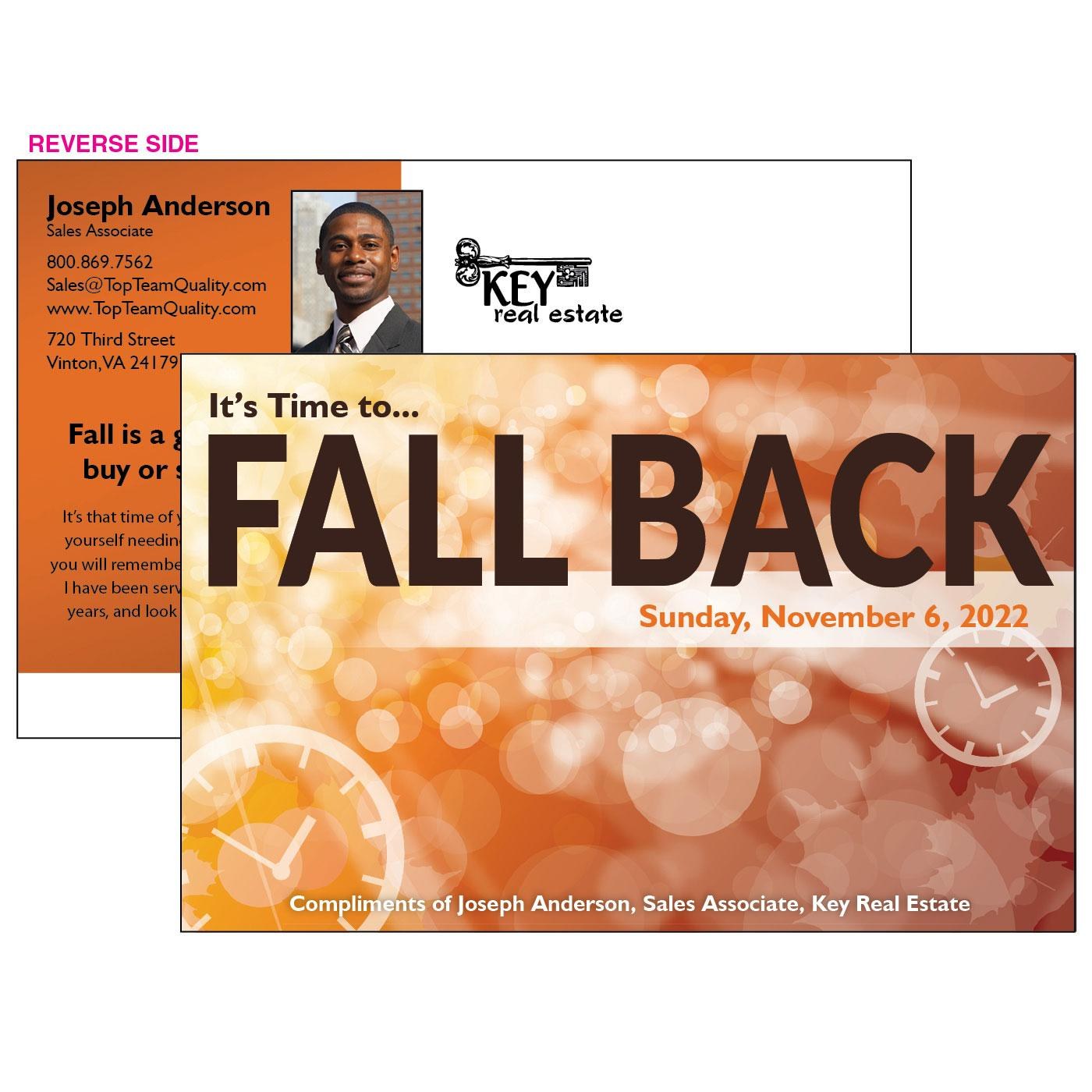 2019 Fall Back Jumbo Postcard