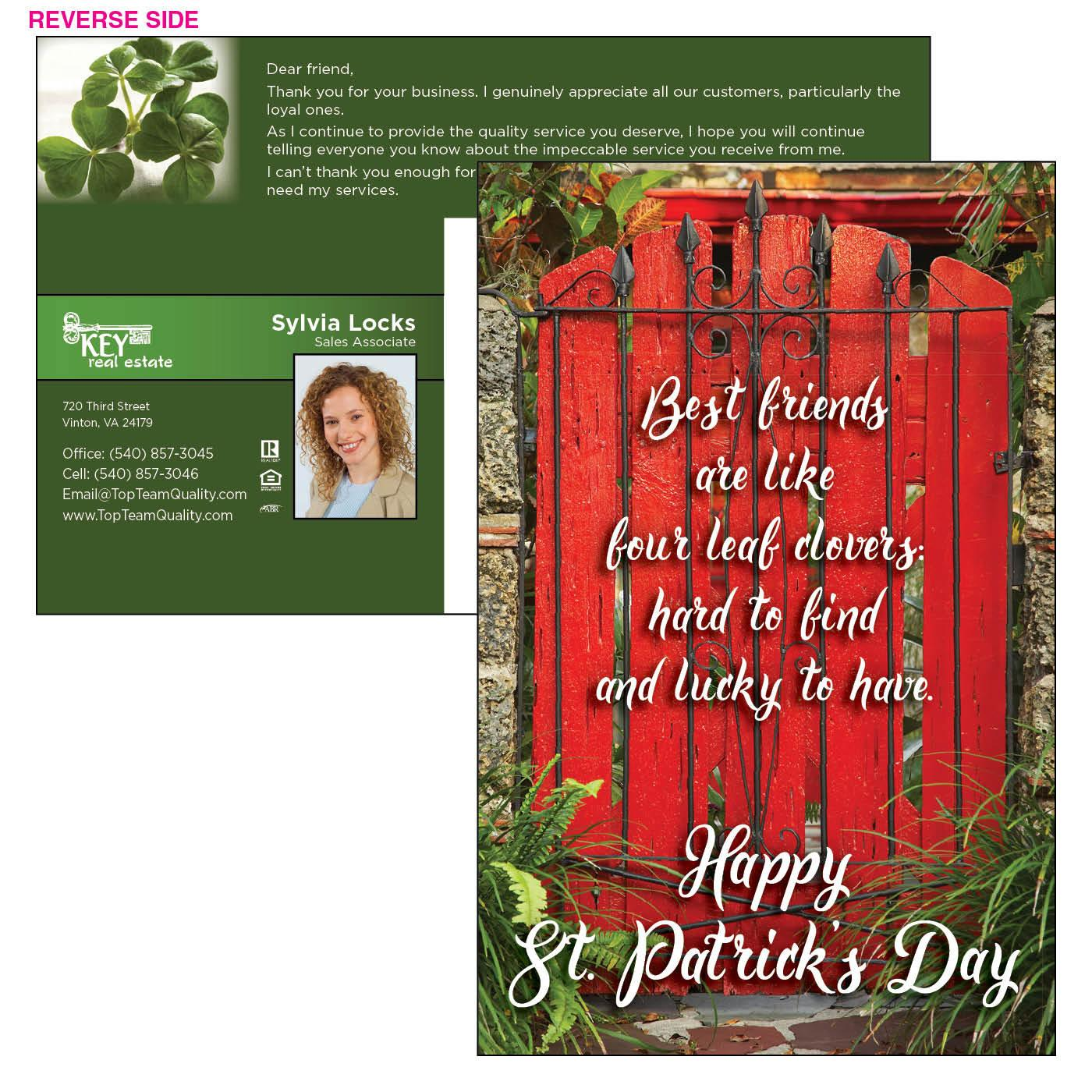 St. Patrick's Day Jumbo Postcard