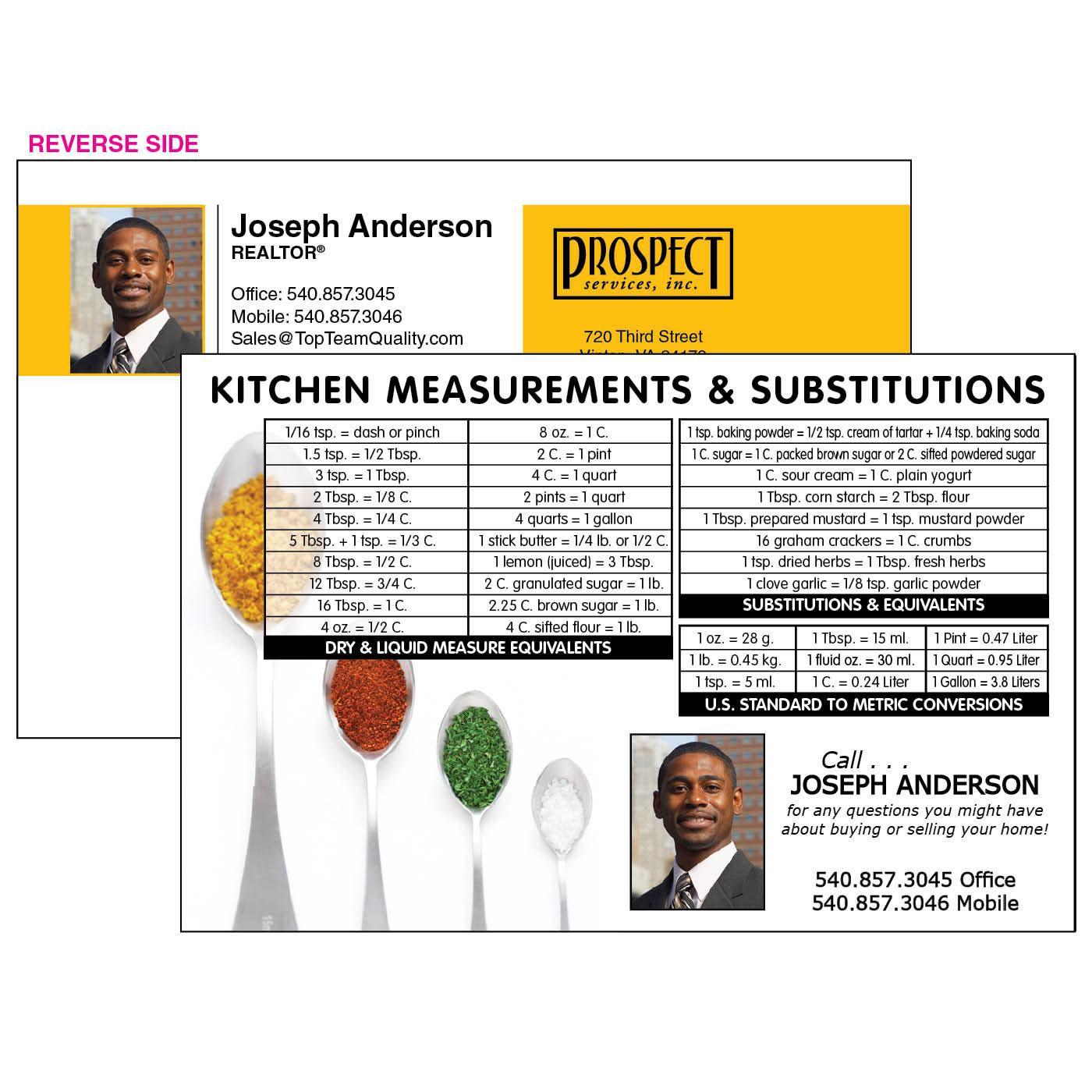 Kitchen Measures Jumbo Postcard
