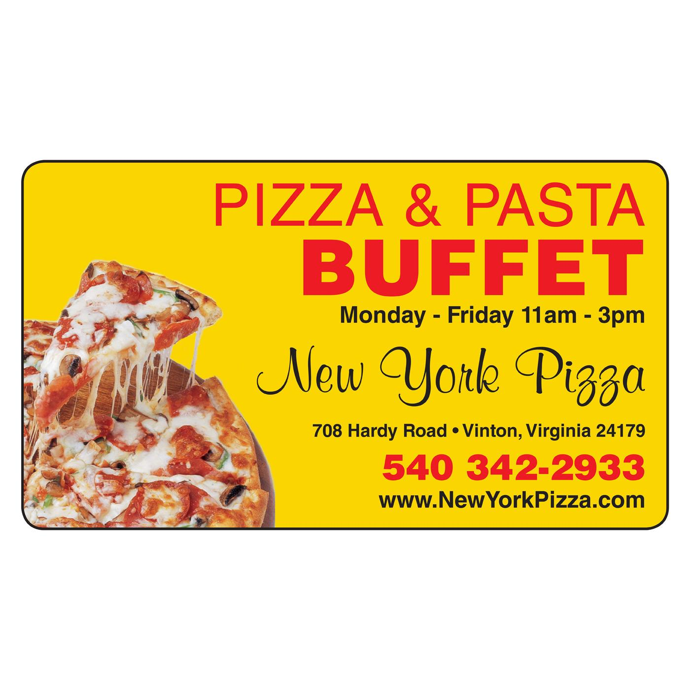 Pizza Magnetic Business Card | Magnets USA®