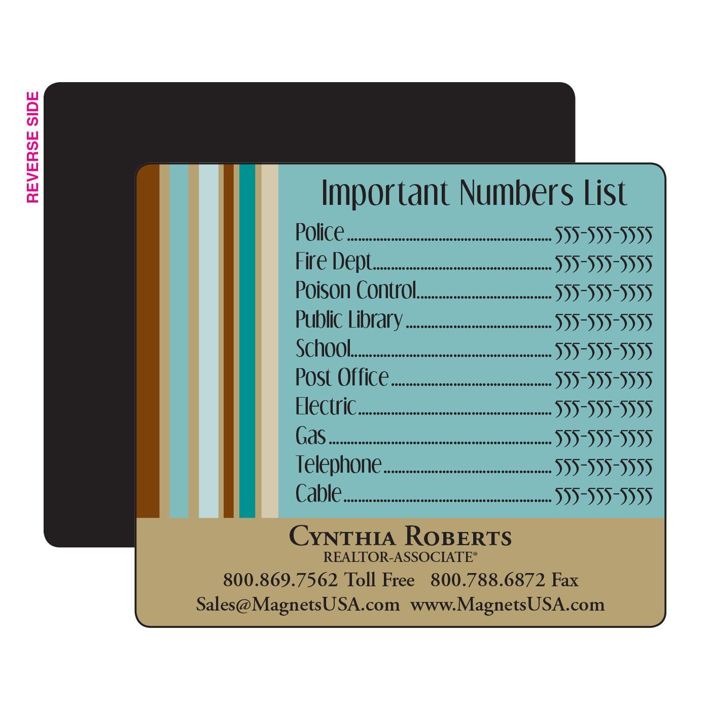 Phone List Magnet