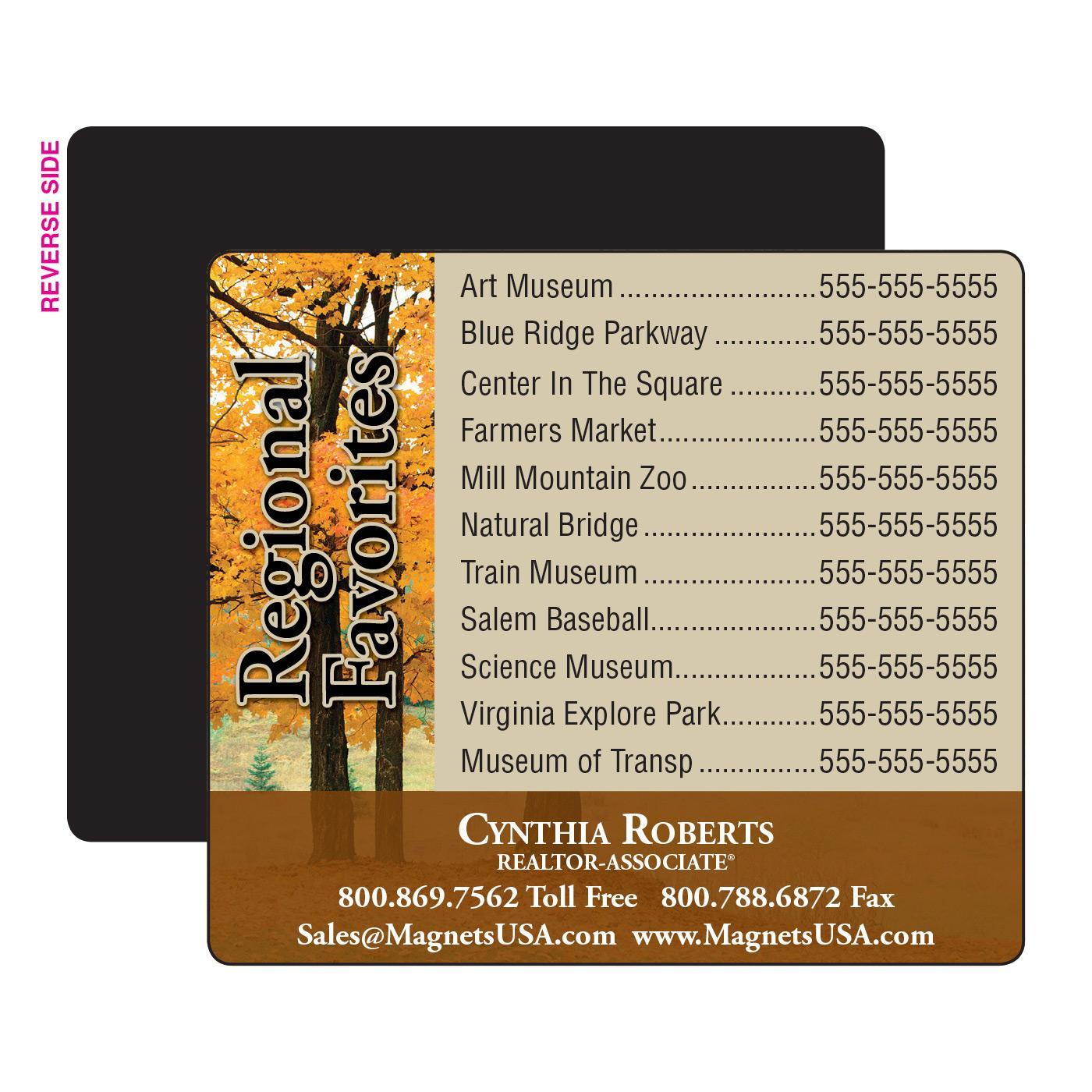 Regional Phone List Magnet
