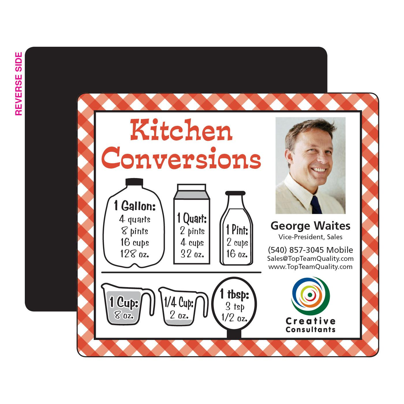 Kitchen Measures Printed Magnet