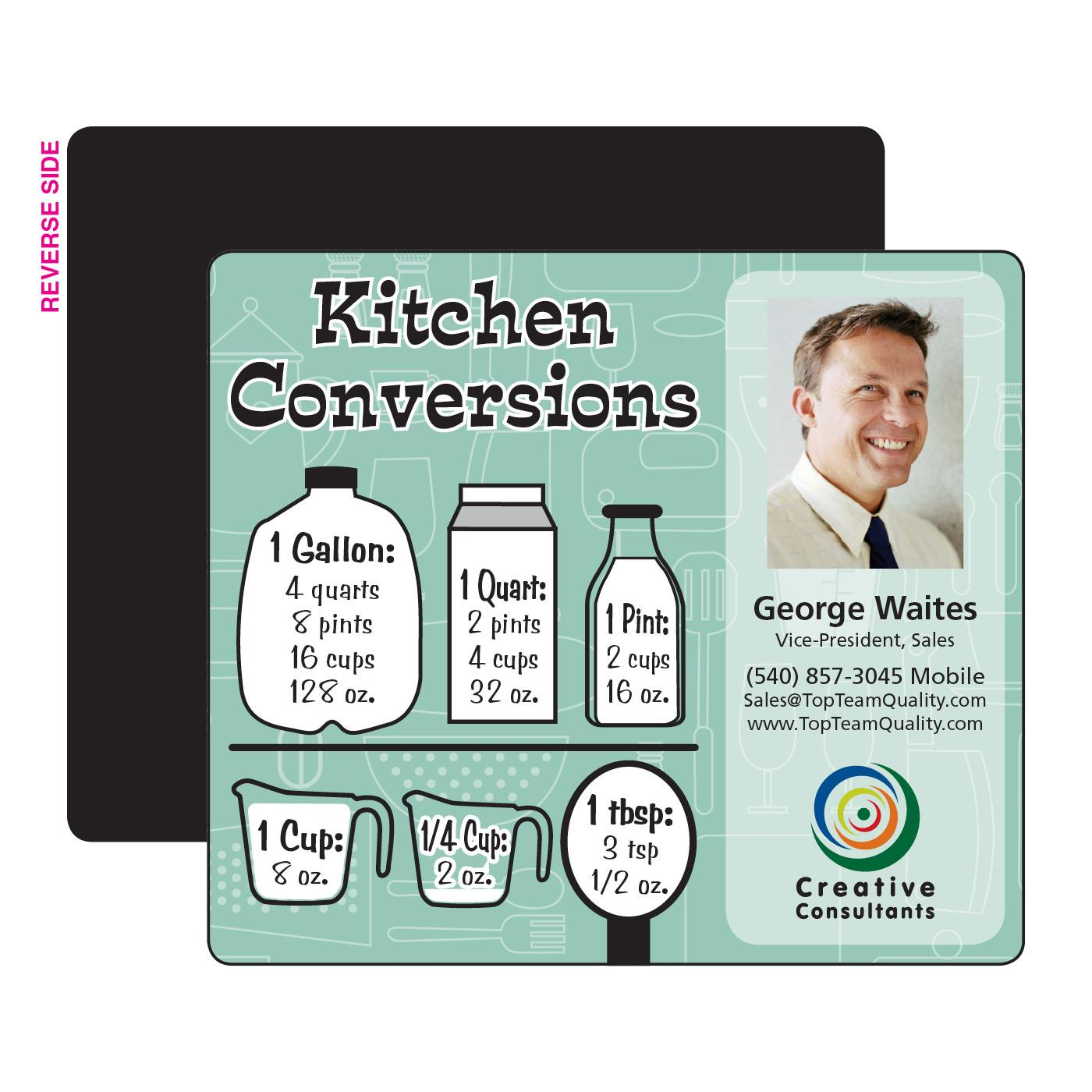 Kitchen Measurements Printed Magnet