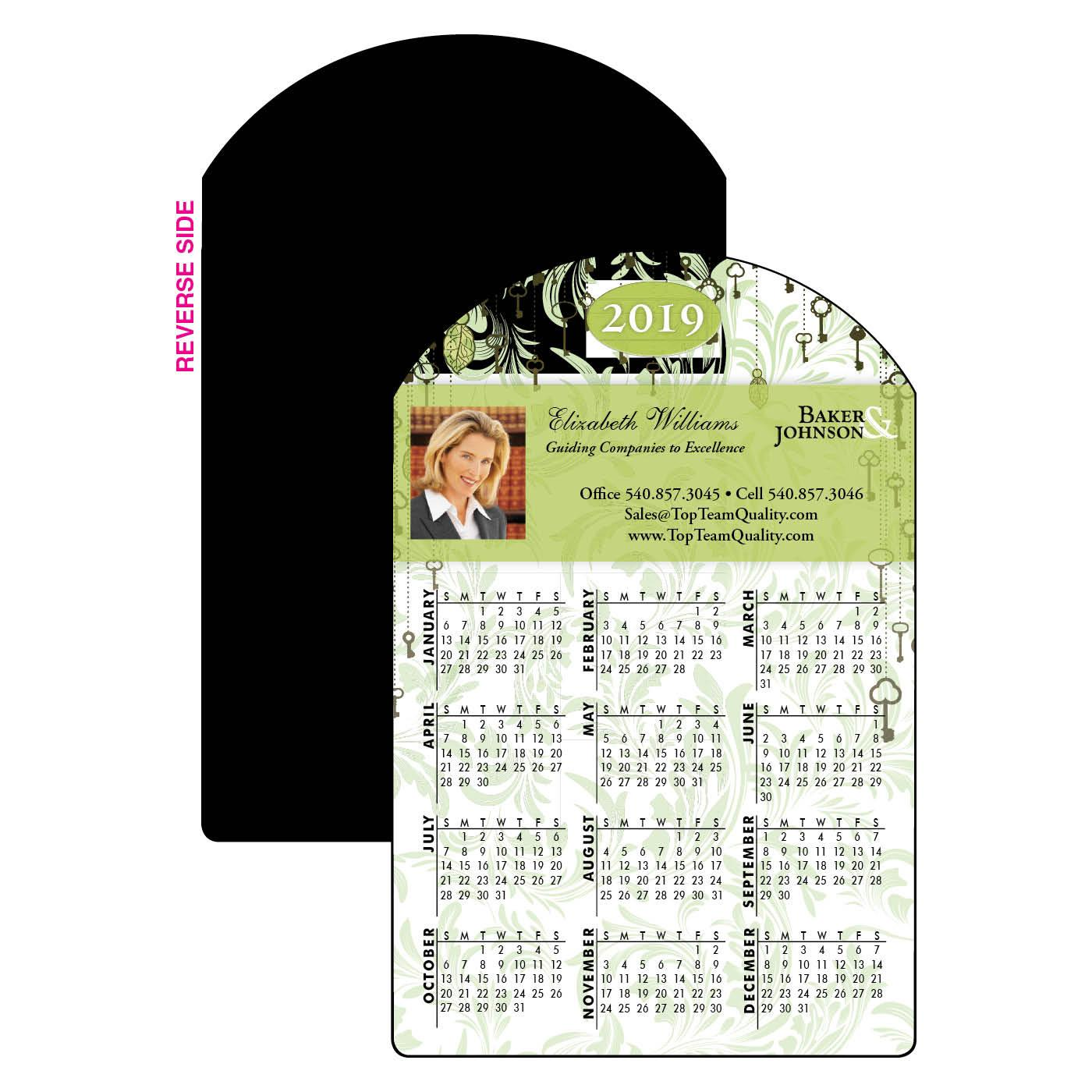 Calendar Magnet with Key Design