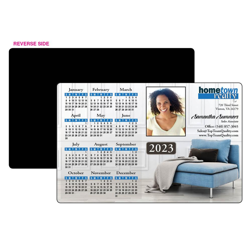 Calendar Magnet with Lounge Chair