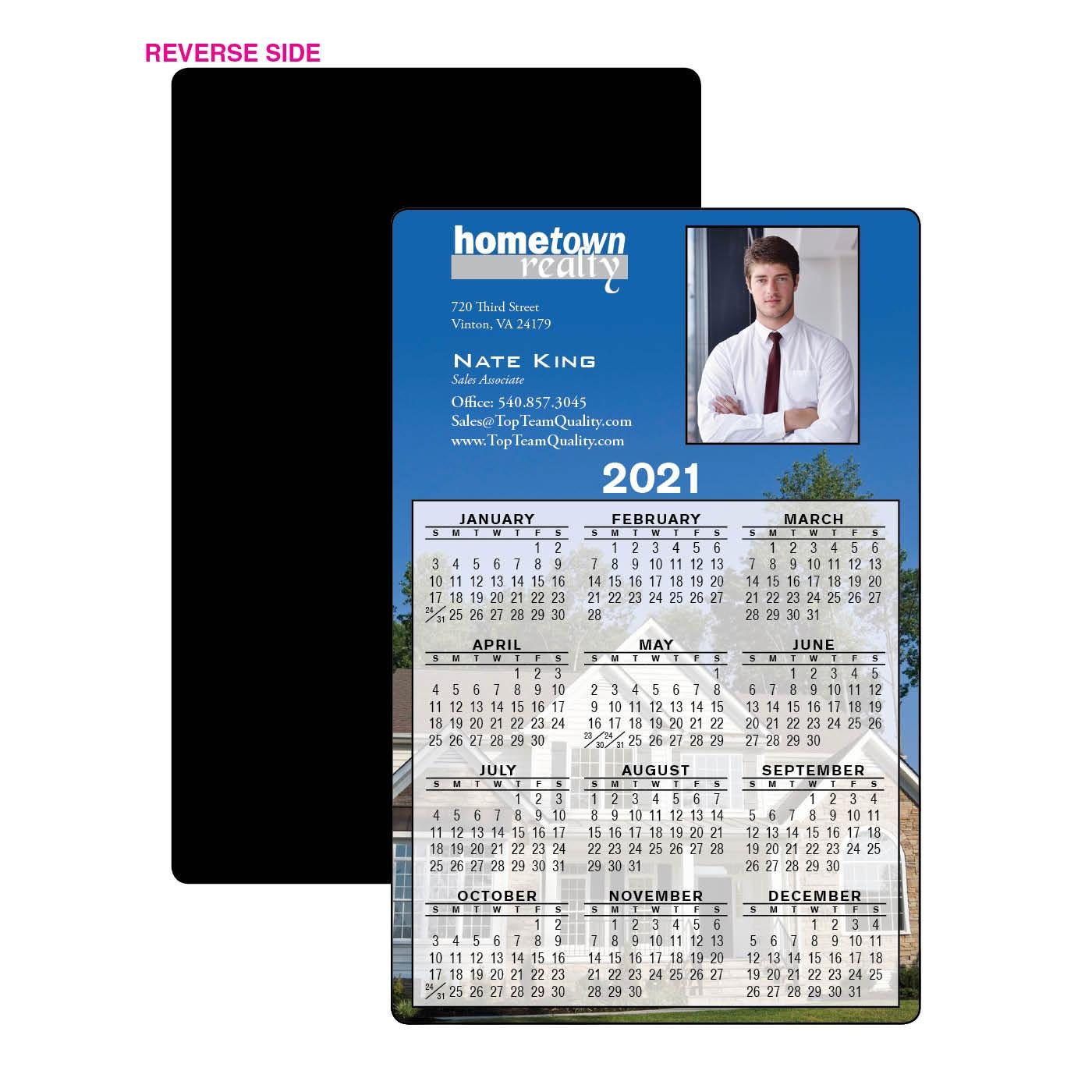 Calendar Magnet with Skyline Photos