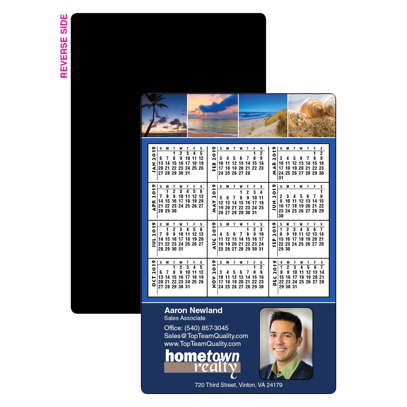 Calendar Magnet with Multiple Photo