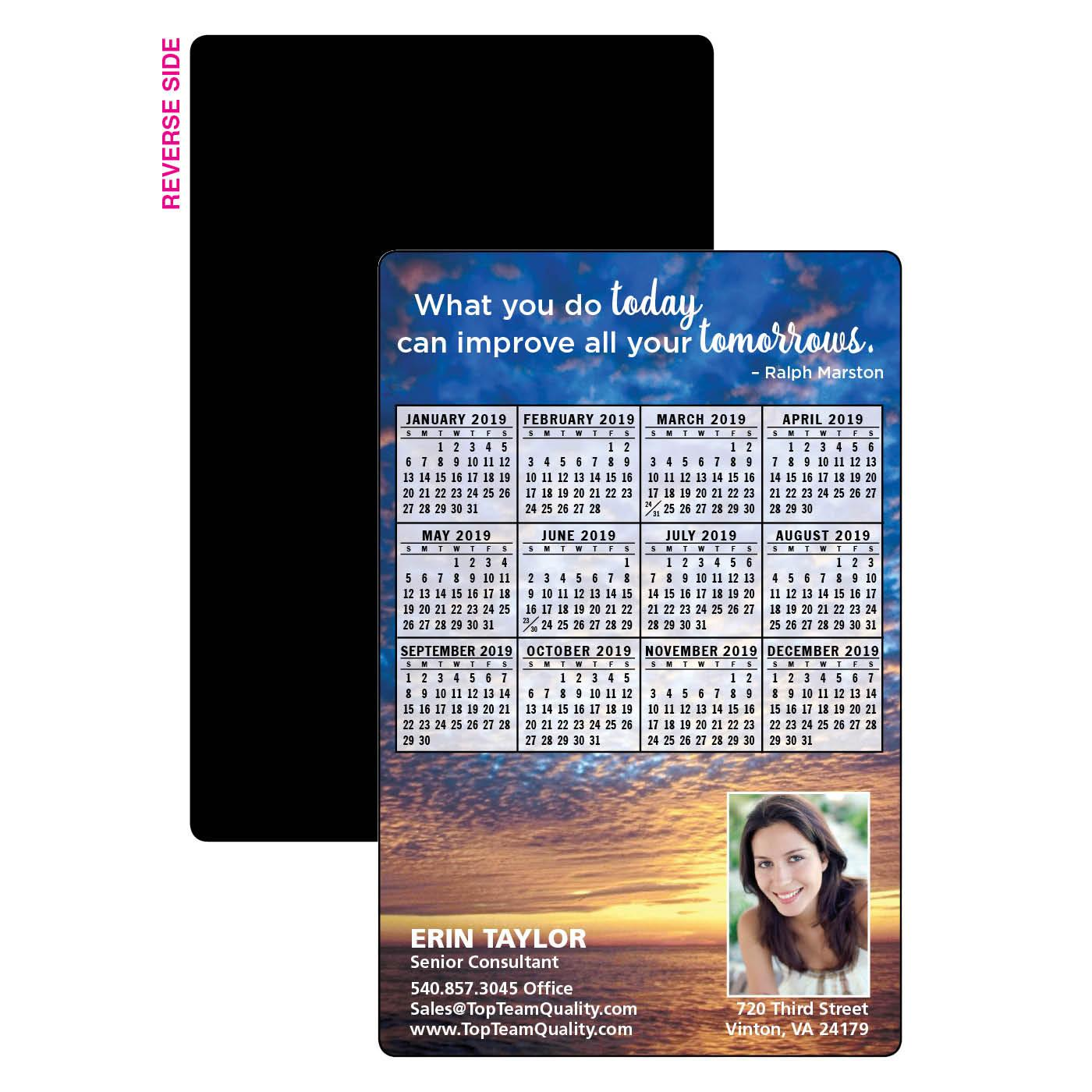 Calendar Magnet with Outdoor Photo