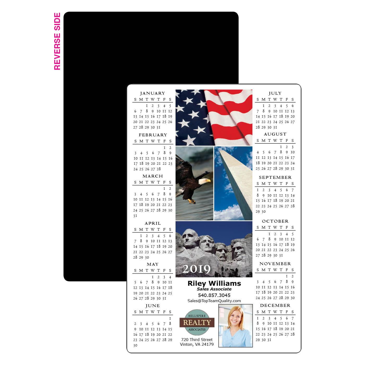 Calendar Magnet with Photo Montage