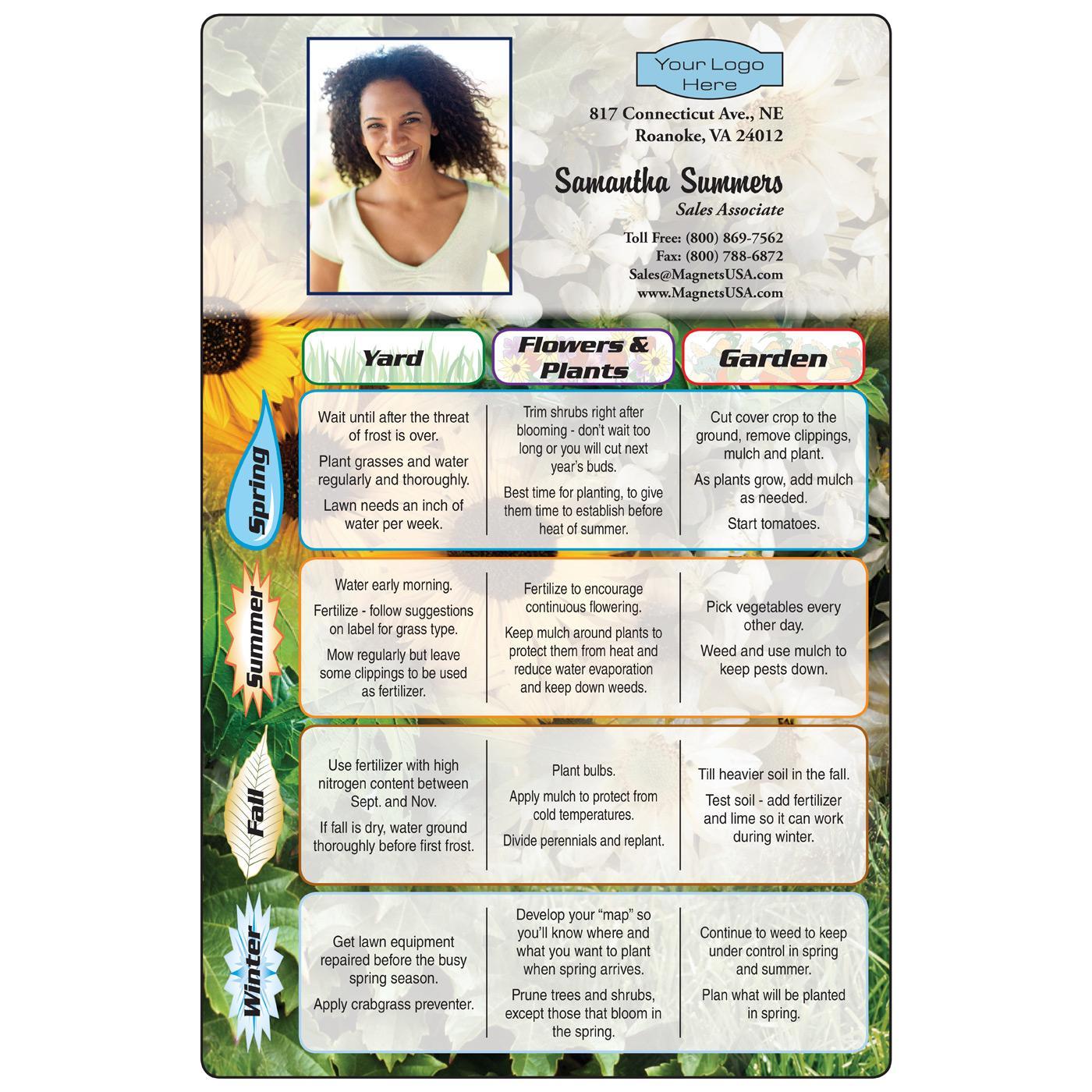 Garden Guide Fridge Magnet