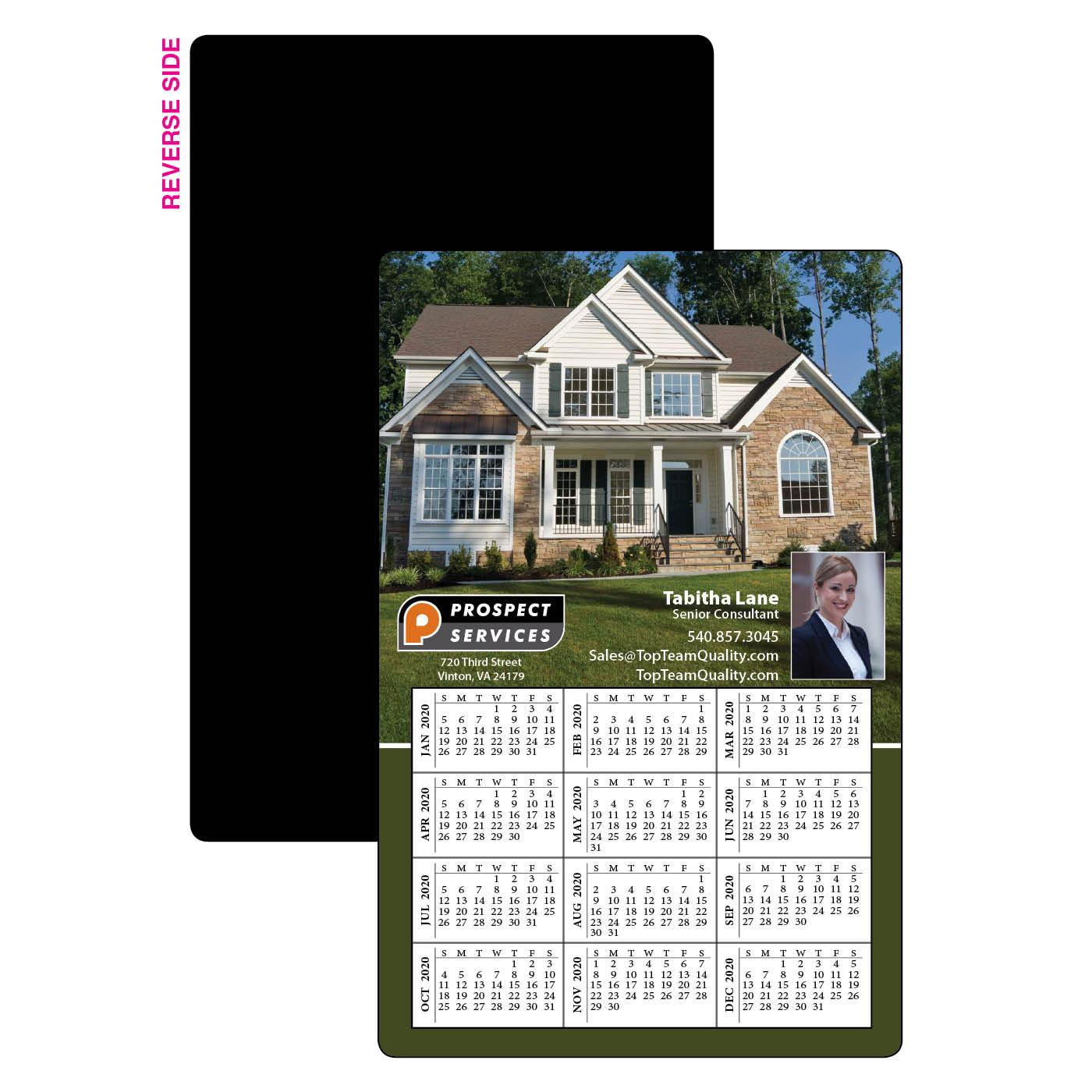 Calendar Magnet with House Image