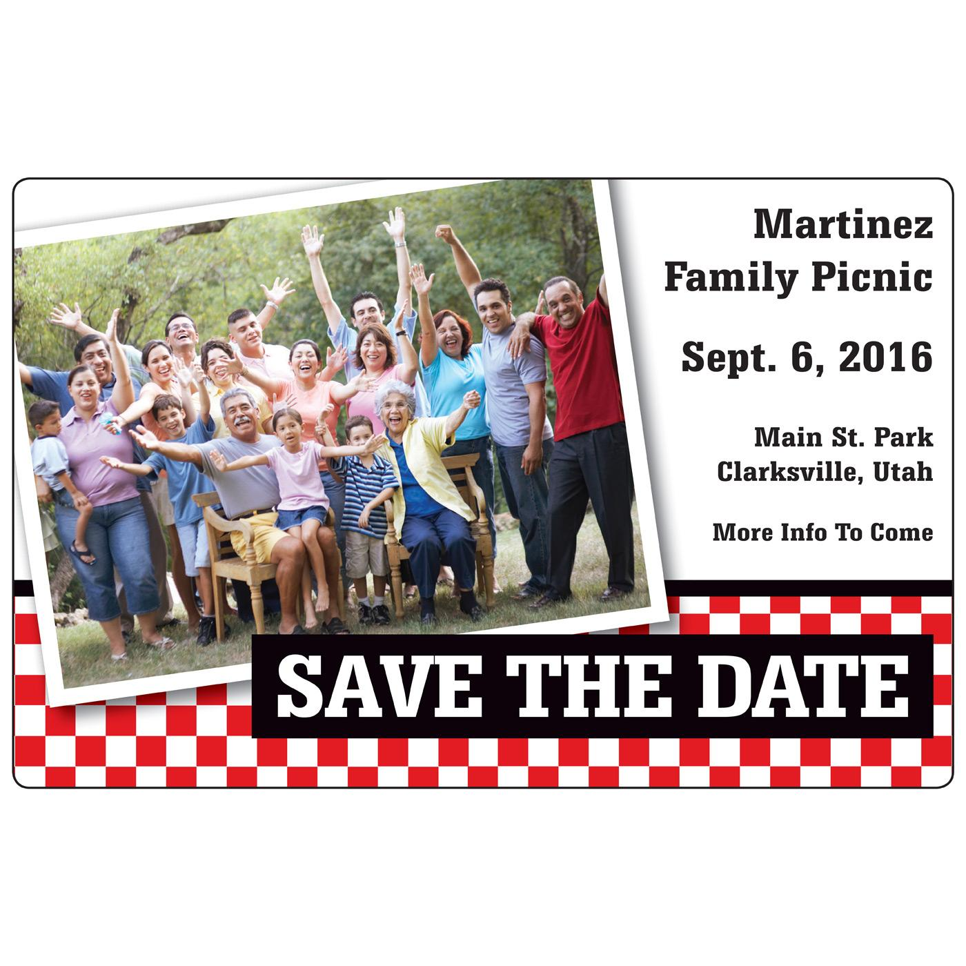 Family Reunion Save the Date Magnet