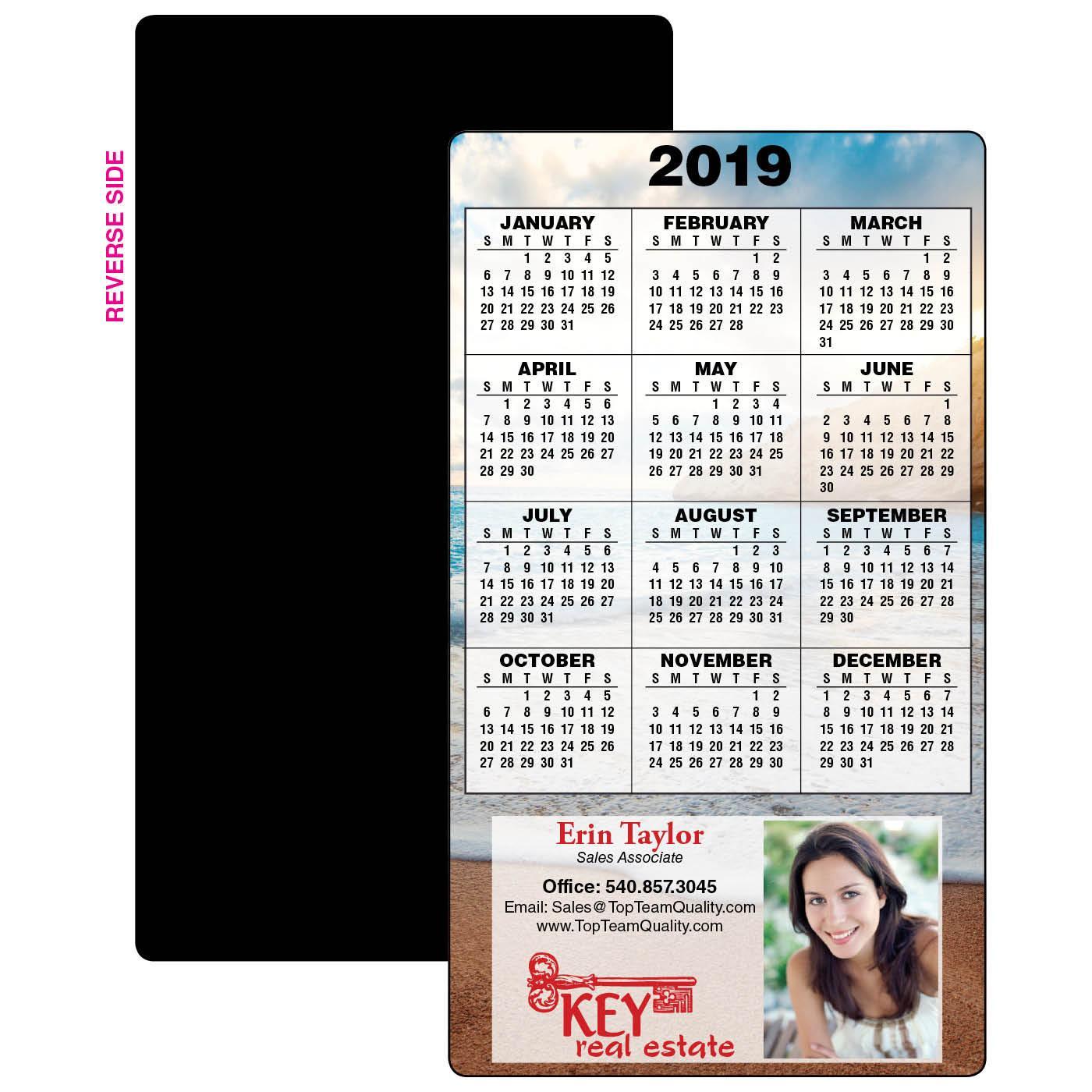 Calendar Magnet w/ Full Background