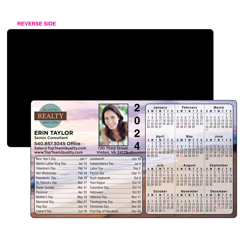 Calendar Image with Sunset Beach