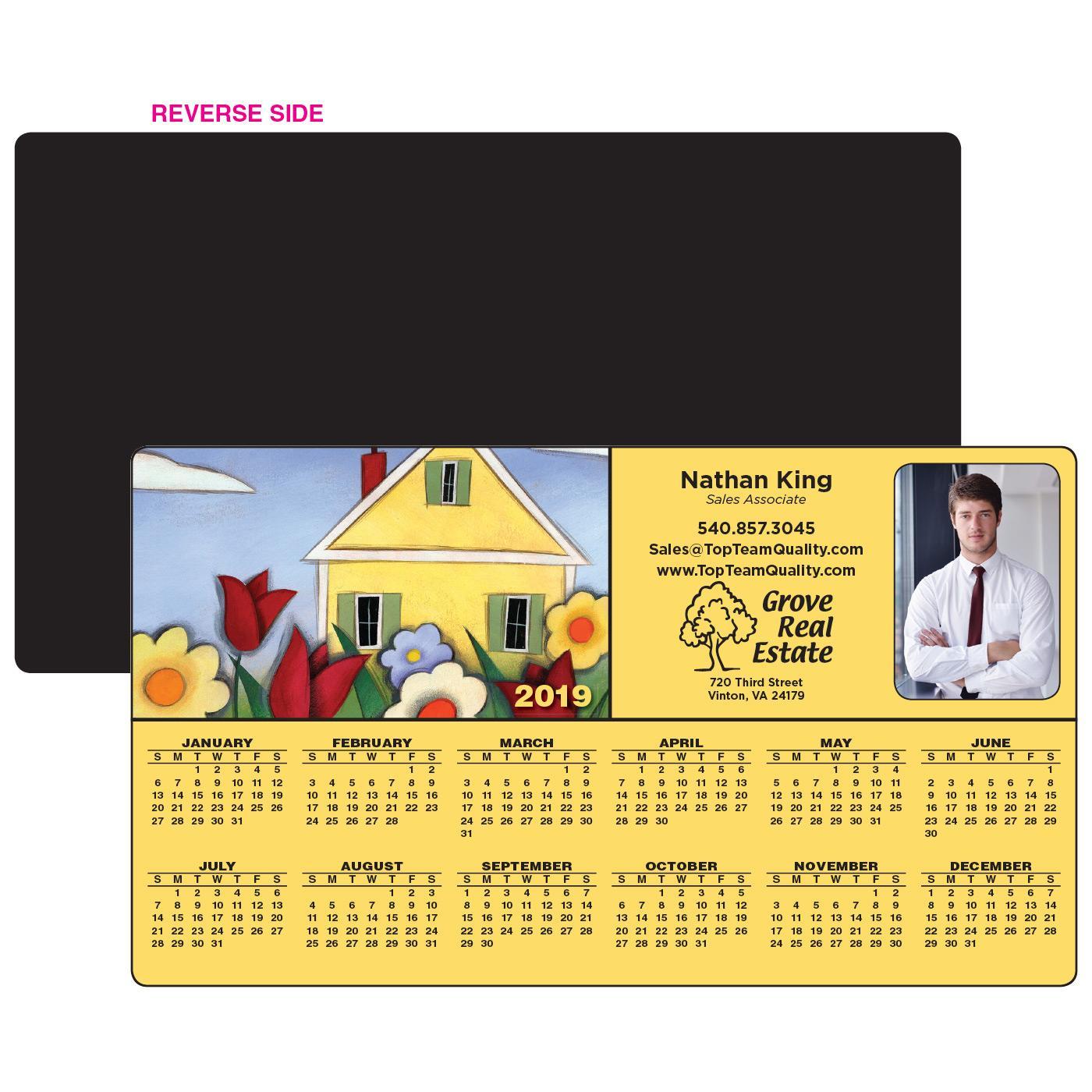 Calendar Magnet w/ Illustrated Home