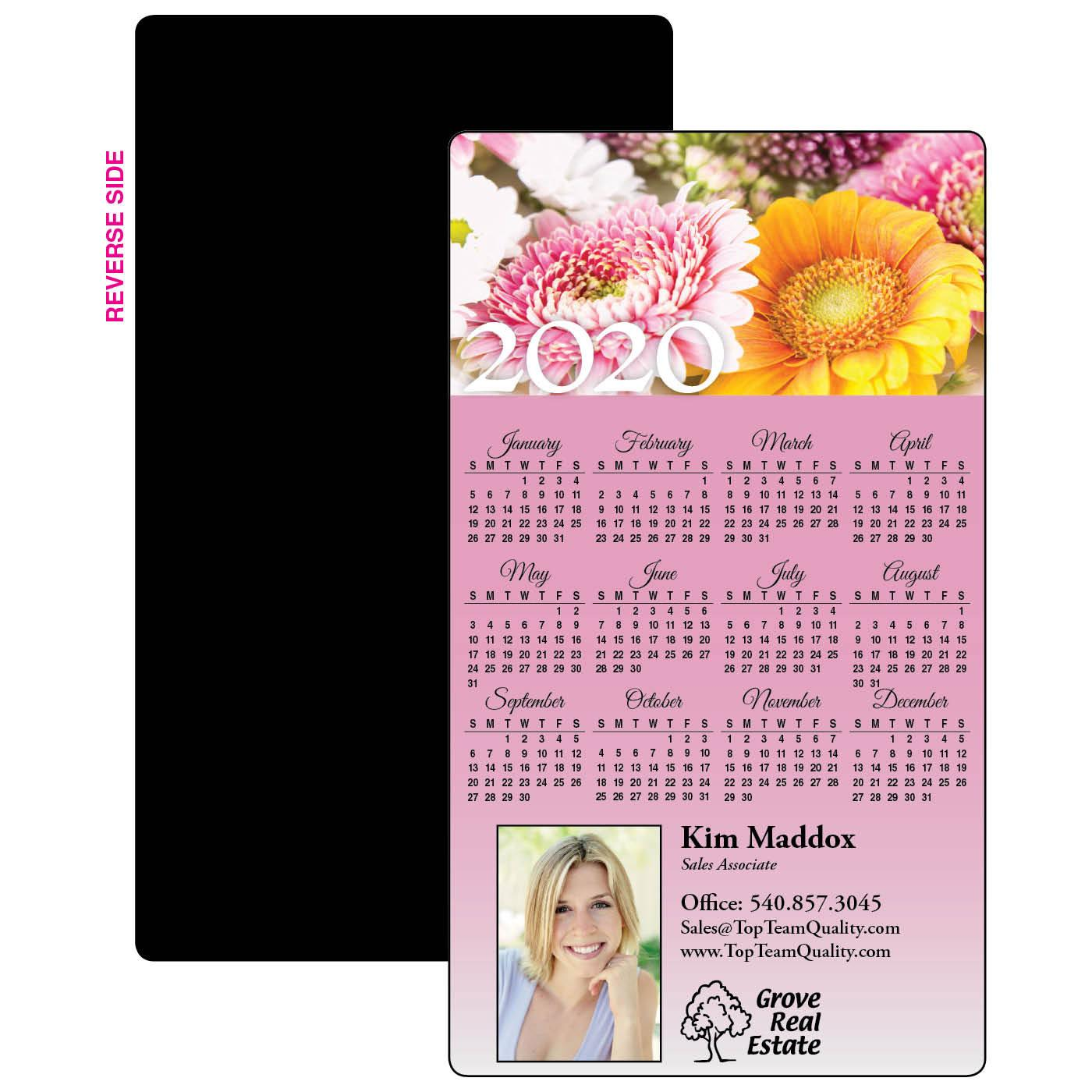 Calendar Magnet with Photo Header