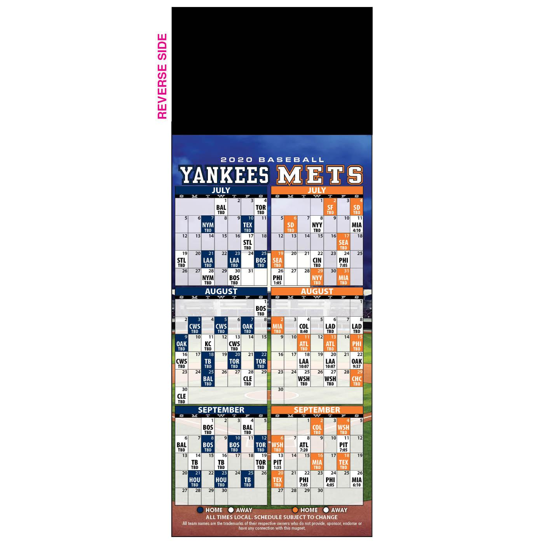 Budget Baseball Schedule Magnet