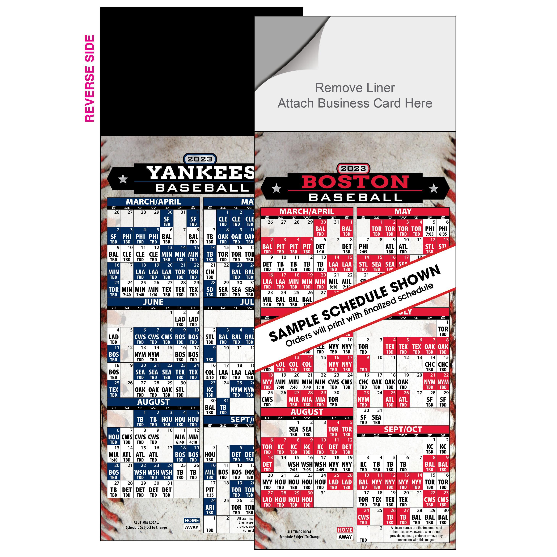 2019 Magnetic Baseball Schedule