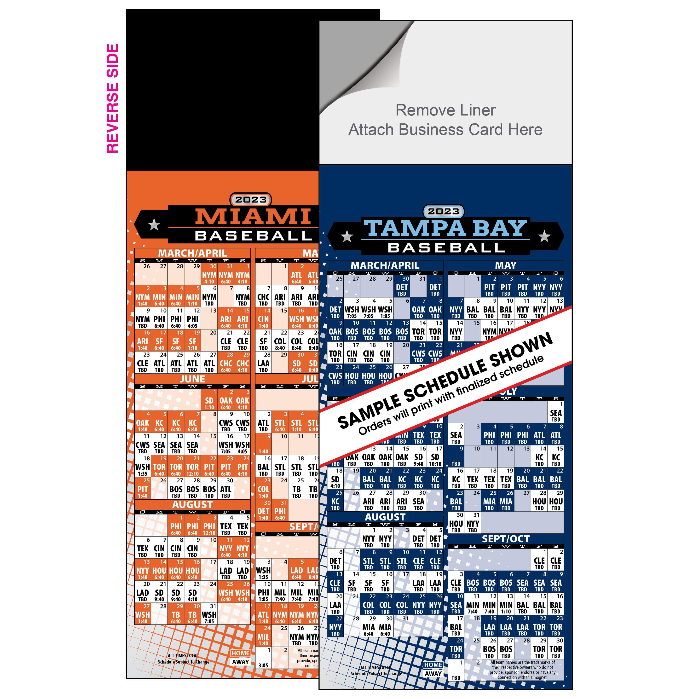 Peel 'n Stick Baseball Schedule