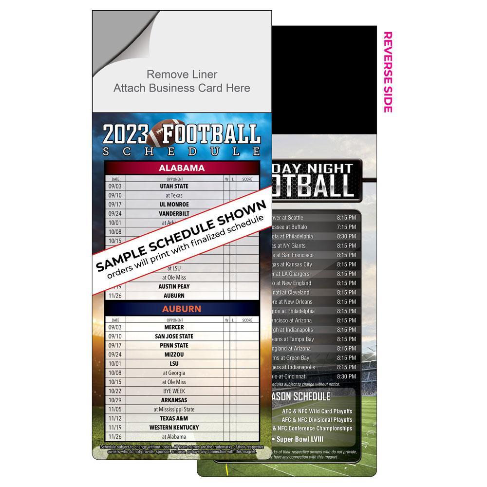 DIY magnetic football schedule