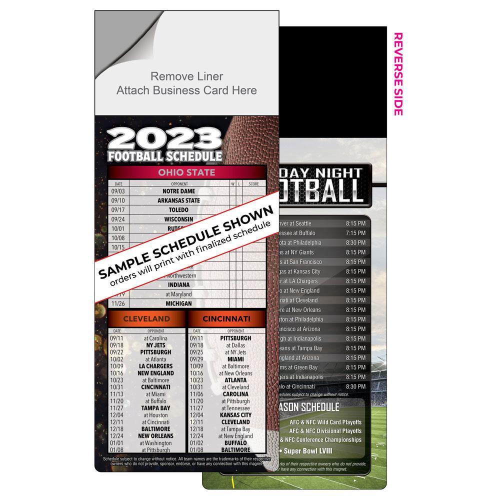 Peel n Stick Football Schedule