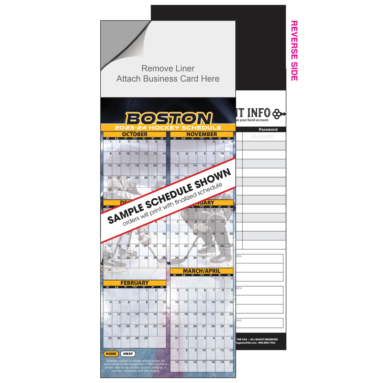 Inexpensive Hockey Schedule Magnet