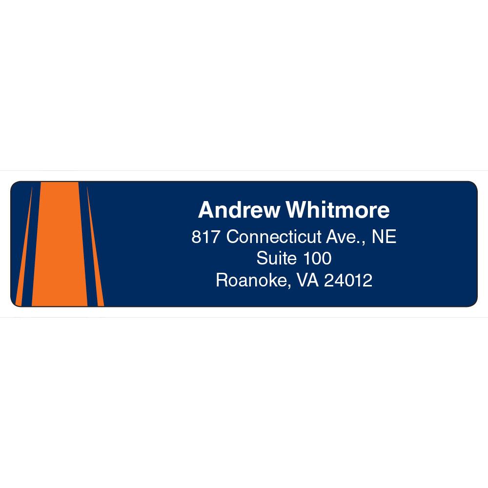 Football-Theme Return Address Label