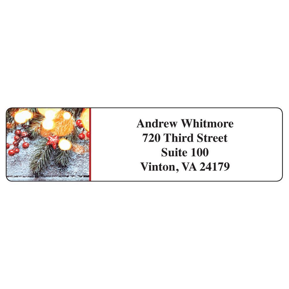 return address labels seasonal garland magnets usa